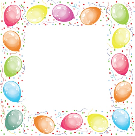 balloon border: Frame with balloons Illustration