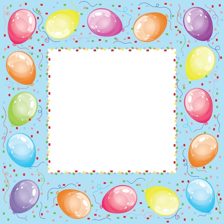 float fun: Frame with balloons Illustration