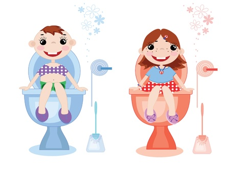 bathroom woman: Toilet symbols,vector