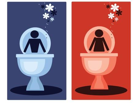 sanificazione: WC simboli, vector  Vettoriali