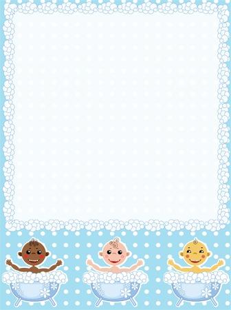 Baby frame  Vector