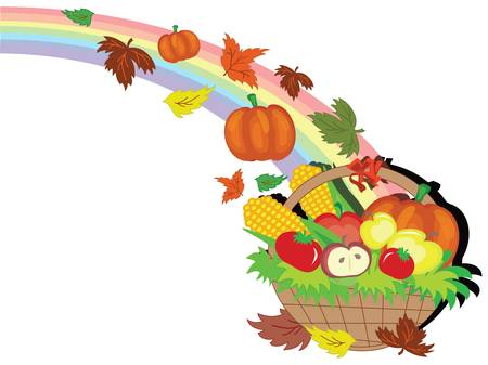 Thanksgiving day,basket Stock Vector - 10608949