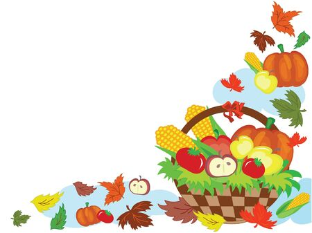 Thanksgiving day,basket Stock Vector - 10608952