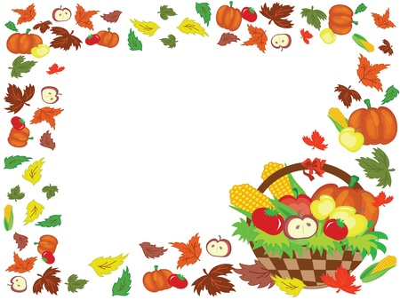 Thanksgiving day,frame Vector