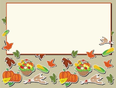 Thanksgiving day,vector frame. Stock Vector - 10624544