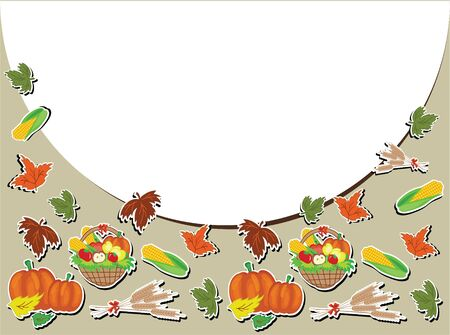 Thanksgiving day,vector frame. Stock Vector - 10624543