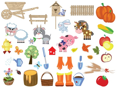 Agriculture set Stock Vector - 10624549