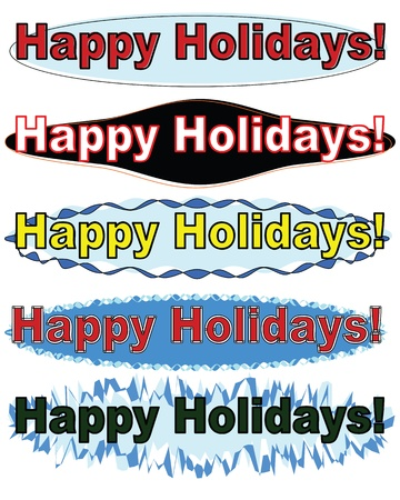 Happy holiday ,banners set. Vector