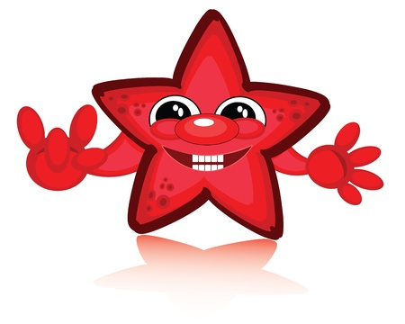 star clipart: Red star