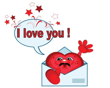 Heart in the letter,vector  Illustration