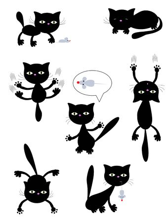 pounce: Halloween icons,cats