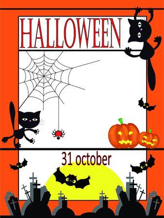 cute border: Halloween background