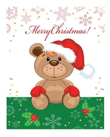 osos navideños: Navidad de fondo, vector