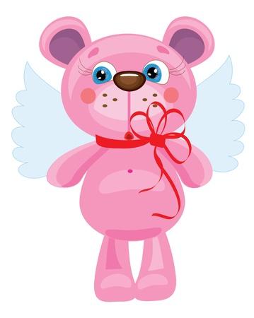 Bear angel, vector Vector
