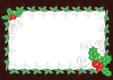 Christmas background-frame Vector