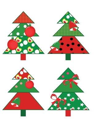 Christmas fir trees, set Stock Vector - 11235722
