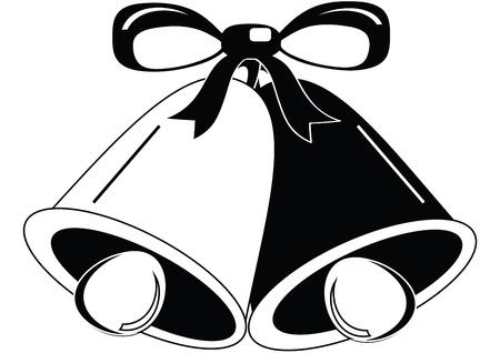 Boda / Campanas de Navidad Ilustración de vector