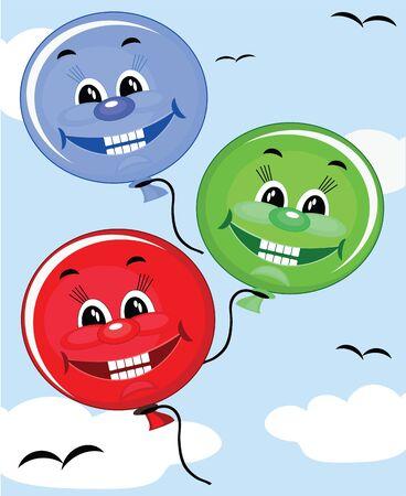 Luftballons Vektorgrafik