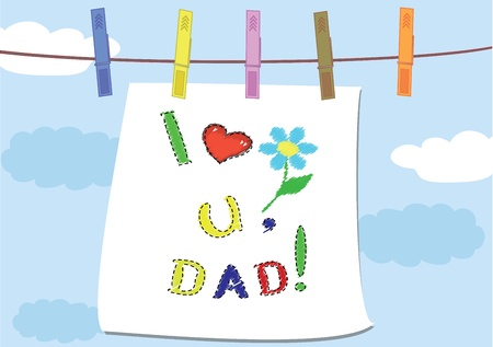 Dad day,background Vector