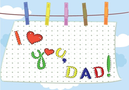 clothespins: Dad day,background Illustration