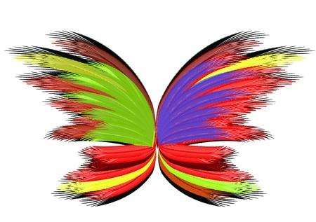 tekening vlinder: Abstract vlinder