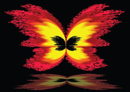 Fire butterfly Vector