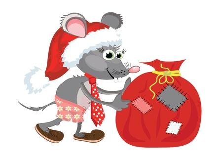 가방 쥐 (rat) 일러스트