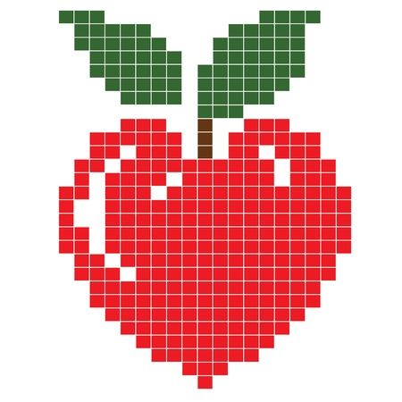 Apple heart Stock Vector - 11529397