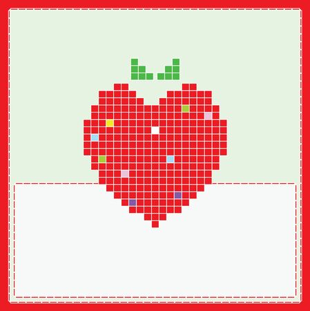 Card with strawberry Vector