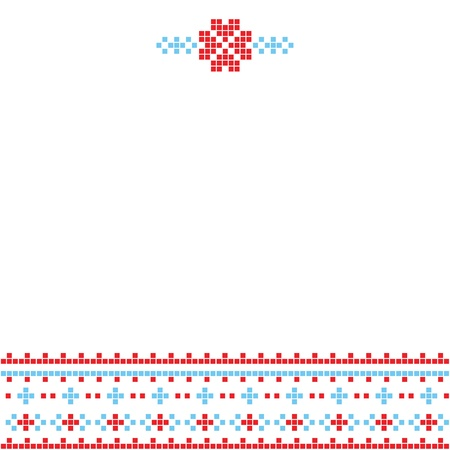 The scheme for embroidery Vector