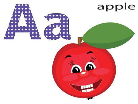 Children alphabet , A.  Vector
