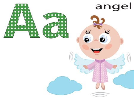 Children alphabet , A.  Vector