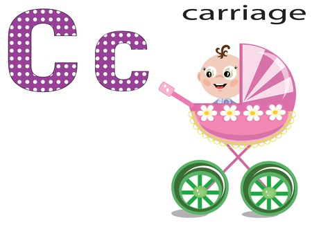 Children alphabet , C.  Vector