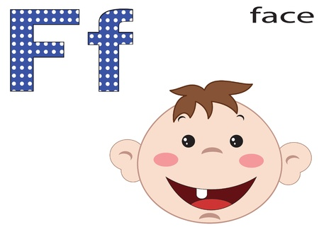 Children alphabet,F Vector