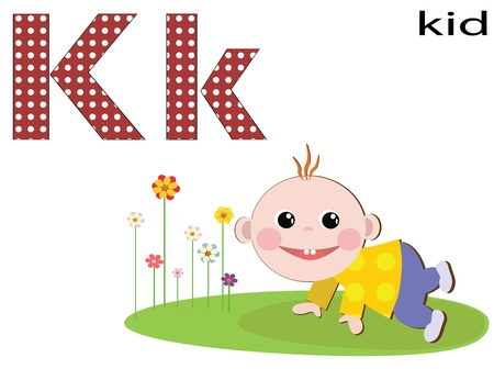 Children alphabet,K Vector