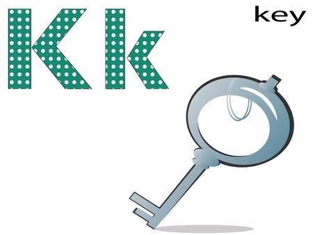 Children alphabet,K Vector