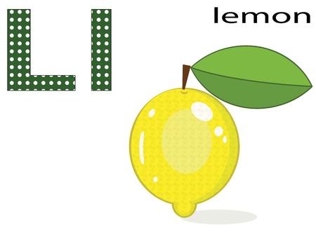 limon caricatura: Niños alfabeto, L