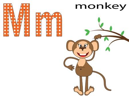 Children alphabet,M Vector
