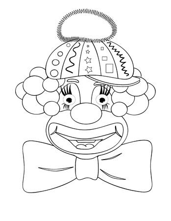 clip art draw: Clown,coloring