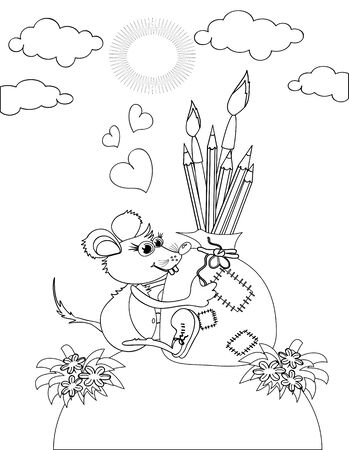 Mouse,coloring Stock Vector - 11783013