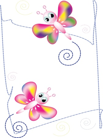 graphically: Background with butterflies