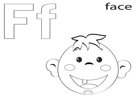 Alfabeto Para Colorear Para Los Niños, Y Ilustraciones Vectoriales ...