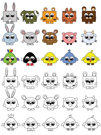 Animals set, vector  Vector