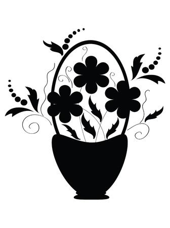 Decor with flowers  Ilustracja