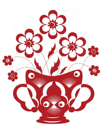 Decor with flowers  Vector