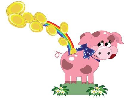 Piggy bank, vector Stock Vector - 13287708