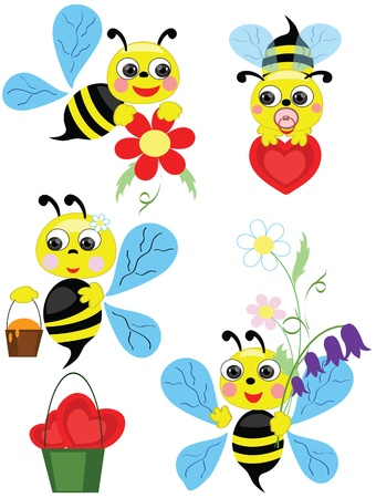 Bees, set  Vector