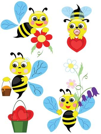 Bees, set Stock Vector - 13377229