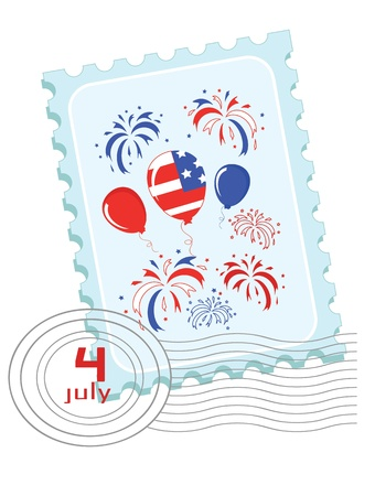 Independence Day   Postage stamp   Vector