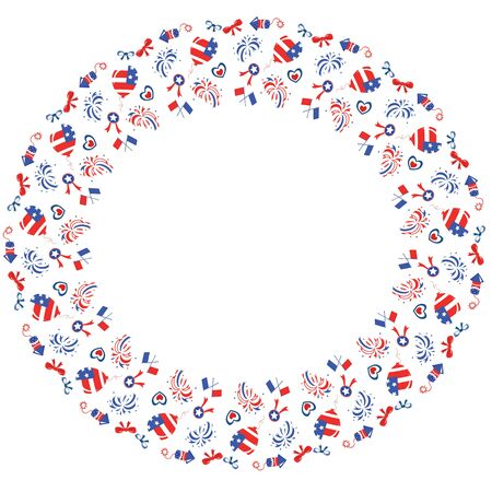 Round frame , Independence Day  Stock Vector - 13471890
